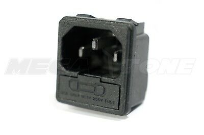£5 • Buy (1 PC) 10A/250VAC IEC320 C14 Panel Mount Male Connector W/Fuse Holder USA SELLER
