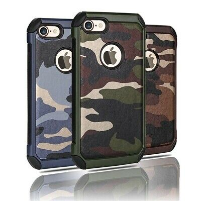 AU9.90 • Buy Heavy Duty Shockproof Bumper Camo Case Cover For IPhone XS Max XR 8 Plus 7 6S SE