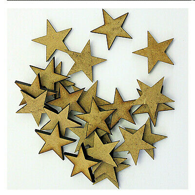 Wooden MDF Star Christmas Shapes 3mm MDF Decorations Plaque & Card Making Crafts • 1.95£