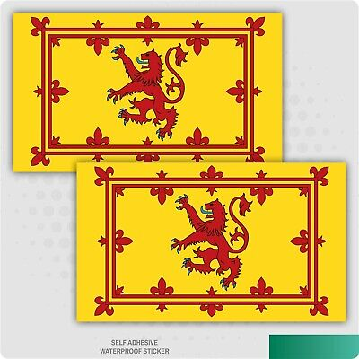2 X Royal Standard Scotland Flag Vinyl Stickers Car Van Truck Taxi Lorry • 1.79£