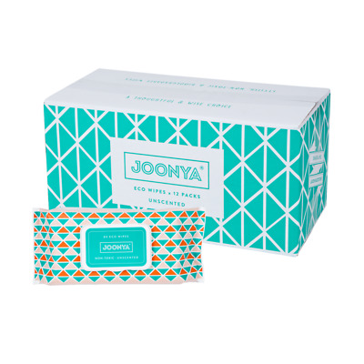 AU77 • Buy Joonya - Non-Toxic, Biodegradable Baby Wipes - 12 X 80 Wipes - Free Delivery