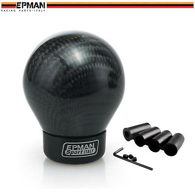 AU39.99 • Buy EPMAN Carbon Fiber Manual Car Gear Stick Shifter Shift Knob Ball Type 5 6 Speed