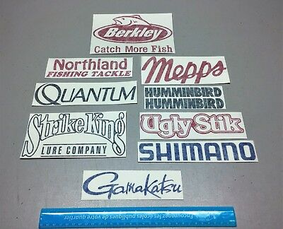 $9.90 • Buy Fishing Decals, 10 Fishing Stickers, Tackle Lure Rods Ugly Stik, Boat Decal