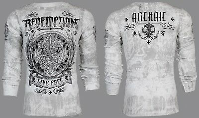 $25.99 • Buy ARCHAIC By AFFLICTION Mens LONG SLEEVE THERMAL Shirt SHIELDED Biker $58 NWT