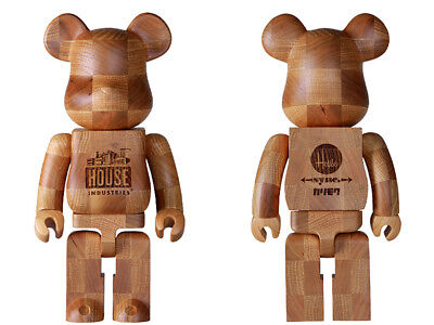$1438 • Buy Medicom Toy BE@RBRICK KARIMOKU  HOUSE INDUSTRIES CHESS  400% Wooden Bearbrick