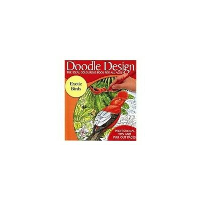 £17.99 • Buy Doodle Design - The Ideal Colouring Book For All Ages - Exotic Birds (61C) Book