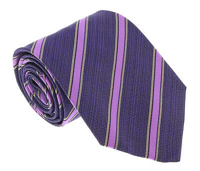 $45.99 • Buy Missoni U45343 Purple/Fuschia Regimental 100% Silk Tie
