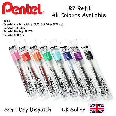 Pentel LR7 Refill For Energel BL77 BL57 BL407 BL107-0.7mm -ALL COLOURS AVAILABLE • 3.29£