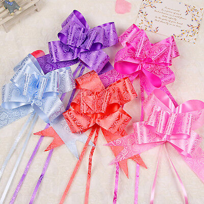 Large 30mm Organza Pull Bow Quality Gift Wrap Ribbon Wedding Car Assorted Colour • 1.99£