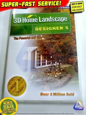 3D HOME LANDSCAPE Software For Windows PC CAD Design Drafting Landscaping Garden • 22.43£