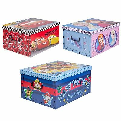 2 X Disney Themed Under Bed Toy Storage Boxes Wooden Lids Lightweight Cardboard  • 12.49£