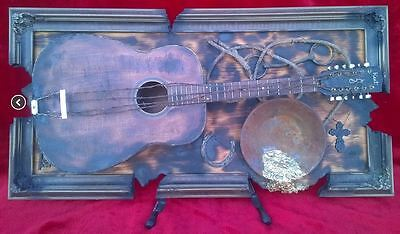 $1250 • Buy Guitar ART Deco UNIQUE KENT Western Country MUSIC Display Studio Acoustic Rock