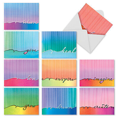 $9.98 • Buy M3322 Love Lines: 10 Assorted Blank Note Cards W/Envelopes Greeting Card