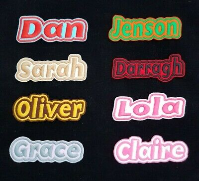 Personalised Embroidered Name Patch Badge G1 Iron On Or Sew • 3.45£
