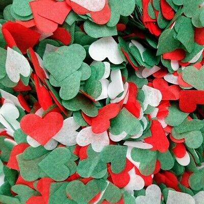 3500 Biodegradable Christmas Wedding Confetti Red Green Crackers Party Balloons • 2.75£