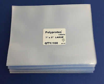 £9.45 • Buy Polyprotec Quality Postcard & Cover Sleeves - Wallets 7 X 5 Inch