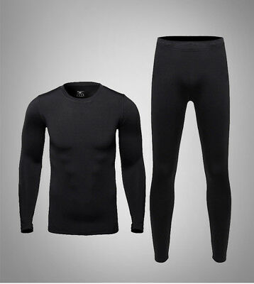 $20.98 • Buy Mens Clothing Thermal Thermos Underwear Long Johns Underware Set For Cycling Ski
