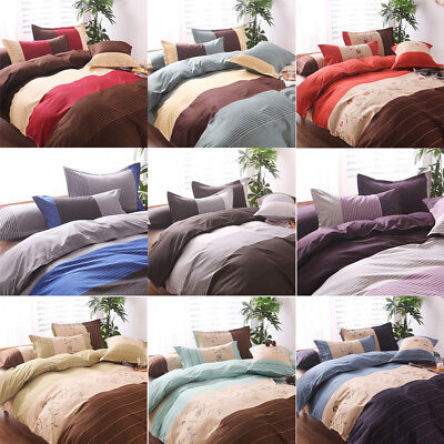 £18.83 • Buy Duvet Quilt Cover Bedding Set Single Double Queen King Size With Pillow Case