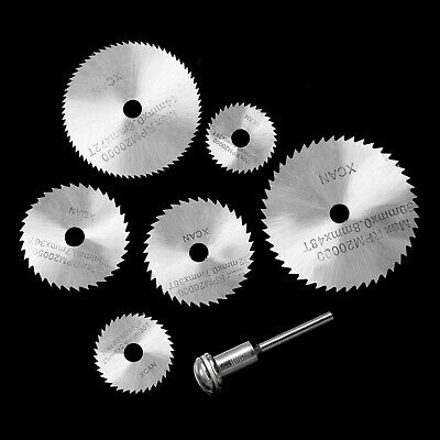 6pc HSS Mini Rotary Disc SAW Cutting BLADE SET Dremel Type Multi Tool Drill Kit • 6.99£