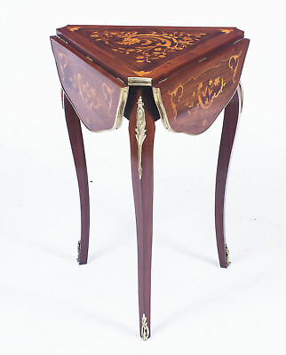 Antique Louis Revival Marquetry Triform Occasional Table C1870 • 1,875£