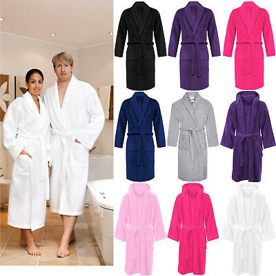 100% Luxury Egyptian Cotton Towelling Bath Robe Unisex Dressing Gown Terry Towel • 13.45£