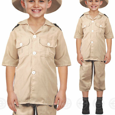 Boys Safari Explorer Fancy Dress Costume Jungle Zoo Keeper Childs Kids Outfit • 8.50£