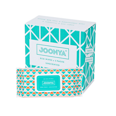AU24 • Buy Joonya -  Non-Toxic, Biodegradable Baby Wipes - 3 X 80 Wipes - Free Delivery