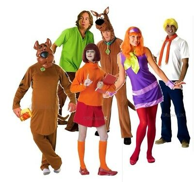 Adult Licensed SCOOBY DOO And Gang Characters Fancy Dress Costume TV Outfits • 42.95£
