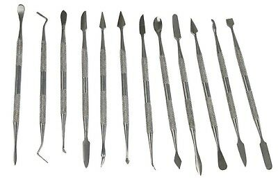 £8.99 • Buy Wax Clay Soap CARVING 12pc Tool SET Art Craft Precise Modelling Sculpting Carver