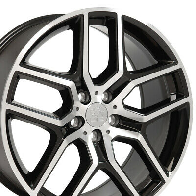 $1047 • Buy 20x9 Wheels Fit Ford Lincoln Ford Explorer Blk Mach'd Rims 10061 W1X SET
