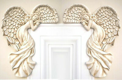 £22.99 • Buy Set Of Vintage Shabby Chic Guardian Angel Door Window Frame Home Wall Decoration