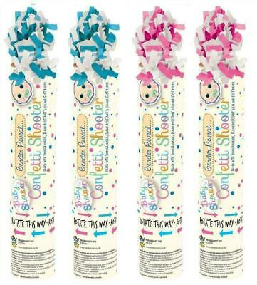 £6.99 • Buy 2x Gender Reveal Confetti Shooter Cannon Baby Shower Party Popper Blue Pink