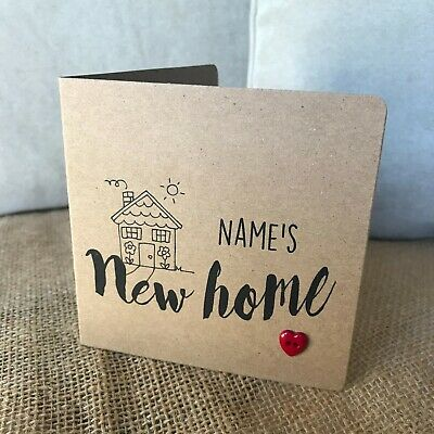 Handmade Personalised New Home Card (new Home) • 2.50£