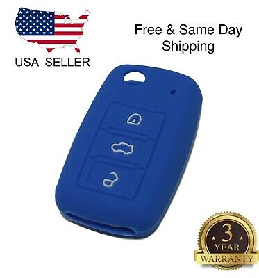 $2.99 • Buy Blue Silicone Cover For VW 3-Button Remote Folding Flip Key