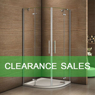 800x800/900x900mm Quadrant Shower Enclosure Frameless Pivot Door+Tray+Waste HQX • 183.14£