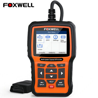 Full System Car Diagnostic ABS SRS Crash Data Code Erease Scanner Foxwell NT510 • 149$