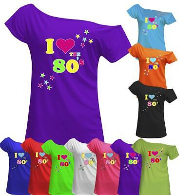 Women I Love The 80's T Shirt Retro Pop Star Ladies Hen Fancy Party Top Outfit • 6.98£