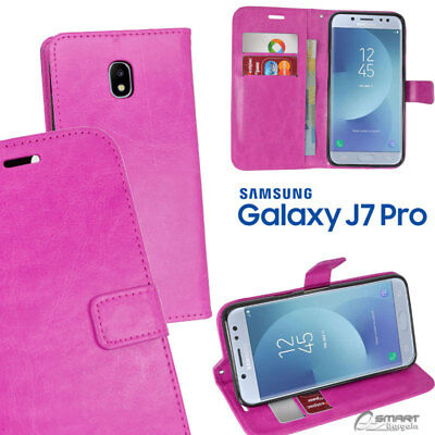 AU6.99 • Buy Pink Wallet Flip Card Slot Stand Case Cover For Samsung Galaxy J7 Pro