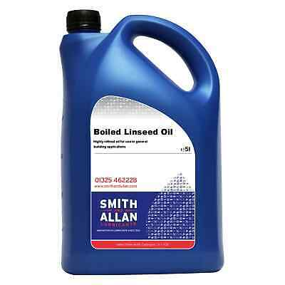Boiled Linseed Oil Wood Treatment 5 Litre 5L • 23.99£