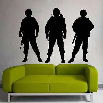 $27.99 • Buy Wall Decals Vinyl Decal Sticker People Army Soldiers Military Interior Decor M15