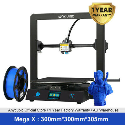 AU469 • Buy Anycubic Mega X 3D Printer High Precision Effortless Level 300*300*305mm 1KG PLA