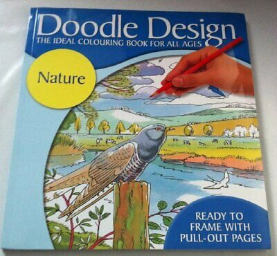 Doodle Design Nature Book The Cheap Fast Free Post • 5.99£