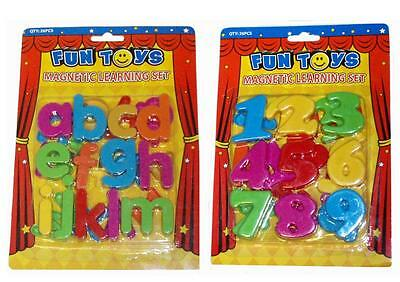 Choose! MAGNETIC ALPHABET LETTERS Or NUMBERS Educational Toy Fridge Magnets • 1.99£