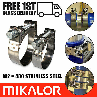 £3.75 • Buy Mikalor Supra Hose Clamps 430 Stainless Steel W2 Clips Heavy Duty Exhaust T Bolt