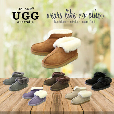 AU49 • Buy New Premium Wool UGG Women/Men Classic Ankle Short/Medium Slipper/Scuff