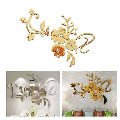 £3.99 • Buy 3D Mirror Acryl Wall Sticker Flower Decal Home Room Art Mural Decor Removable UK