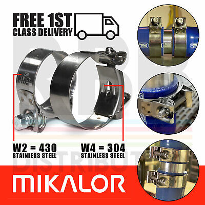 £3.70 • Buy Mikalor Supra Hose Clamps Stainless Steel Heavy Duty Car T Bolt Exhaust Clips