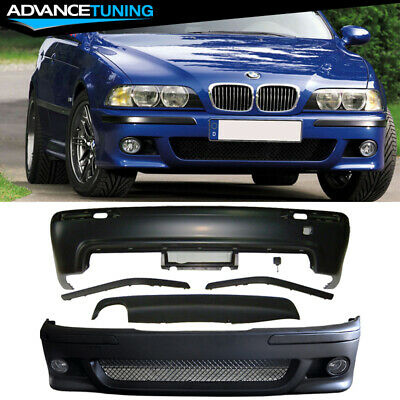 $448.99 • Buy Fits 97-03 BMW E39 5-Series M5 Style Front Bumper W/ Fog Cover Rear Diffuser