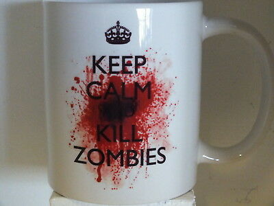 £7.49 • Buy  Keep Calm And Kill Zombies  Funny MUG - Ceramic Or Travel Mugs - Carry On Style