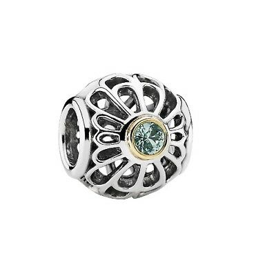 AU139 • Buy NEW Pandora Vintage Lace Two Tone Gold Silver ALE Green Spinel Charm 791173SSG